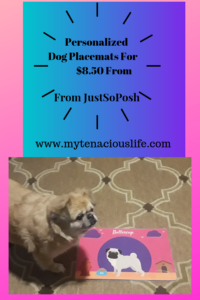 personalized dog placemat
